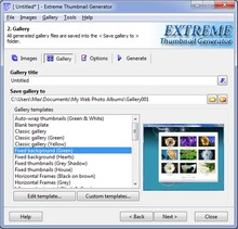 Extreme Thumbnail Generator - Web-Fotoalbum-Maker, html-Fotogalerie-Software
